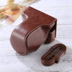 Full Body Camera PU Leather Case Bag with Strap for FUJIFILM X-A3 / X-A2/ X-M1 / X-A10 (16-50mm / 18-55mm / XF 35mm Lens)(Coffee