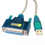 USB 2.0 to DB25 Pin Female Cable, Length: 1.5m