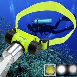 CREE T6 3 Mode Zoom LED Strong Light 30m Diving Flashlight Headlight