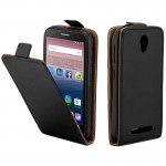 ZTE Blade L110 / A110 TPU Business Style Vertical Flip Protective Leather Case with Card Slot