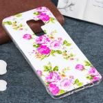 For Samsung Galaxy S9+ Noctilucent Rose Flower Pattern TPU Soft Back Case Protective Cover, Small Quantity Recommended Before Sa