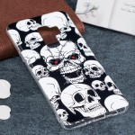 For Samsung Galaxy S9+ Noctilucent Red Eyes Skull Pattern TPU Soft Back Case Protective Cover, Small Quantity Recommended Before