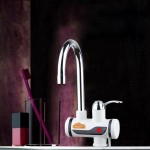 3s Fast Heat Electrothermal Rotatable Faucet Water Tap with Indicator Light, 220V, Size: S