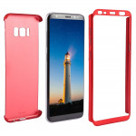 For Samsung Galaxy S8 + / G955 360 Degrees Full Coverage Detachable Protective Cover Case (Red)