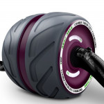 Automatic Rebound Abdominal Roller Round Home Office Mute Fitness Equipment for Man / Woman(Purple)