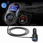Wireless Bluetooth FM Transmitter Radio Adapter Car Charger, with Hand-Free Calling and 1.4 inch LCD Display, Supports TF Card S
