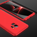 GKK for Samaung Galaxy S9 Three-paragraph 360 Degree Full Coverage PC Protective Case Back Cover(Red)