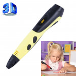 Gen 6th ABS / PLA Filament Kids DIY Drawing 3D Printing Pen with LCD Display(Yellow+Black)