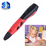 Gen 6th ABS / PLA Filament Kids DIY Drawing 3D Printing Pen with LCD Display(Red+Black)