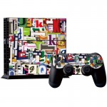 Letter Pattern Decal Stickers for PS4 Game Console