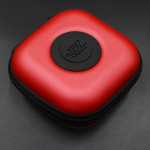KZ Data Wire Charger Earphone Portable PU Receiving Case(Red)