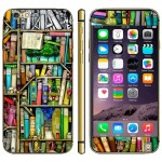 Bookshelf Pattern Mobile Phone Decal Stickers for iPhone 6 & 6S