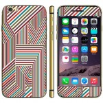 Colorful Stripe Pattern Three-dimensional Style Mobile Phone Decal Stickers for iPhone 6 & 6S