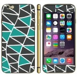 Stickers iPhone 6 Plus Triangle Motif Téléphone mobile Decal et 6S - wewoo.fr