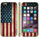 US Flag Pattern Mobile Phone Decal Stickers for iPhone 6 Plus & 6S Plus