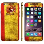 Spainish Flag Pattern Mobile Phone Decal Stickers for iPhone 6 Plus & 6S Plus