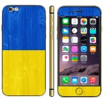 Ukrainian Flag Pattern Mobile Phone Decal Stickers for iPhone 6 Plus & 6S Plus