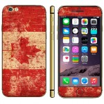 Canadian Flag Pattern Mobile Phone Decal Stickers for iPhone 6 Plus & 6S Plus