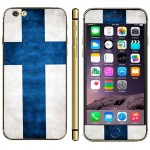 Finnish Flag Pattern Mobile Phone Decal Stickers for iPhone 6 Plus & 6S Plus