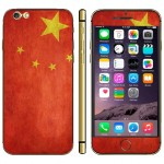 Chinese Flag Pattern Mobile Phone Decal Stickers for iPhone 6 Plus & 6S Plus