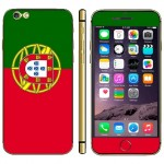 Portuguese Flag Pattern Mobile Phone Decal Stickers for iPhone 6 Plus & 6S Plus