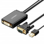 UGREEN MM119 1080P Full HD VGA to DVI (24+1) Male to Female Adapter Cable for Computer, PC, Laptop, HDTV, Projector, DVD Graphic