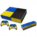 Ukrainian Flag Pattern Decal Stickers for Xbox One Game Console