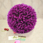 Artificial Purple Eucalyptus Plant Ball Topiary Wedding Event Home Outdoor Decoration Hanging Ornament, Diameter: 17 inch