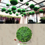 Artificial Aglaia Odorata Plant Ball Topiary Wedding Event Home Outdoor Decoration Hanging Ornament, Diameter: 6.7 inch