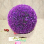 Artificial Grass Plant Ball Topiary Wedding Event Home Outdoor Decoration Hanging Ornament, Diameter: 8.7 inch