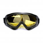 Motorcycle Parts Goggles Anti-UV Goggles Outdoor Windproof Glasses(Yellow)