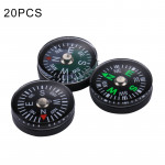 20 PCS 15mm Outdoor Sports Camping Hiking Pointer Guider Plastic Compass Hiker Navigation, Random Color Delivery