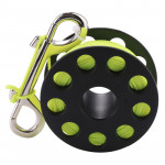 PULUZ Compact Diving Finger Reel with 30m Nylon Braided Wire & Stainless Steel Bolt Clip