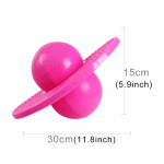 Bouncing Ball Explosion-proof Balance Outdoor Inflatable Exercise Jumping Balls Toys (Pink)