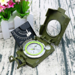 GoldGood K4074 Outdoor Multi-function Military Travel Geology Pocket Prismatic American Compass with Luminous Display (Green)
