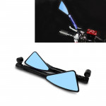 2 PCS Motorcycle Parts CNC Technology Aluminum Alloy Rearview Mirror Side Mirror (Black)