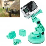TMC Car Suction Cup Mount + Tripod Adapter + Handle Screw for GoPro Hero 4 / 3+ / 3 / 2 / 1(Green)