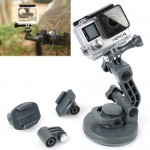 TMC Car Suction Cup Mount + Tripod Adapter + Handle Screw for GoPro Hero 4 / 3+ / 3 / 2 / 1(Grey)
