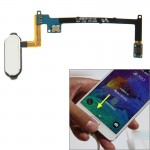 Home Button Flex Cable with Fingerprint Identification Function for Samsung Galaxy Note 4 / N910(White)