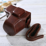 Full Body Camera PU Leather Case Bag with Strap for Olympus EPL7 / EPL8 (Coffee)