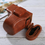 Full Body Camera PU Leather Case Bag with Strap for Olympus EPL7 / EPL8 (Brown)