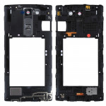 iPartsBuy for LG C90 H500 Middle Frame Bezel with Speaker Ringer Buzzer & Rear Camera Lens & Home Button