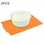 2 PCS Multi-function Silicone Foldable Water Filter Mat Drain Insulation Pad (Orange)