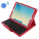 For iPad Air 2 Bluetooth Keyboard Litchi Texture Smart Cover Leather Case with Holder and Sleep Function(Red)