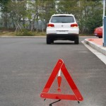 Foldable Reflective Triangle Safety Warning Board, Size: 39.5cm x 35cm(Red)