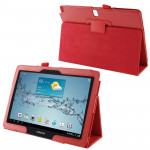 Litchi Texture Leather Case with Holder for Samsung Galaxy Note 10.1 (2014 Edition), Red(Red)
