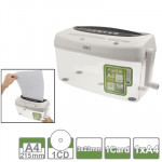 Office Series Hand-cranked A4 / CD / Card Desktop Paper Shredder, Waste-bin Volume: 4L (No. 9935)(White)