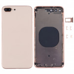 iPartsBuy for iPhone 8 Plus Back Housing Cover(Rose Gold)