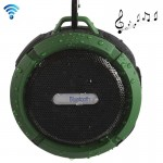 C6 Outdoor Waterproof Bluetooth Speaker, Supporting Handsfree / Suction(Green)