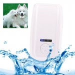 KH-909 Universal IPX6 Waterproof GPS Tracker for Pet / Kid / the Aged (White + Blue)